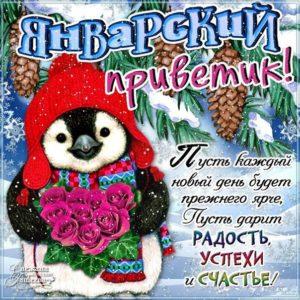 Январский привет картинки открытки