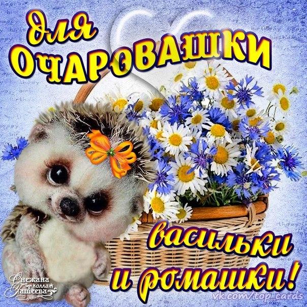 открытка девушке цветы