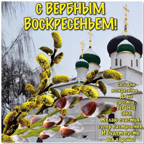 С Вербным воскресеньем открытки